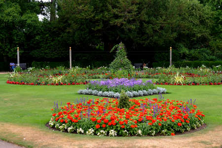 Flower Beds in The Abbey Gardens,Bury St Edmunds,Suffolk.