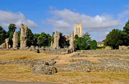 Bury St Edmunds Cathedral and The Ruins of The Old Abbey