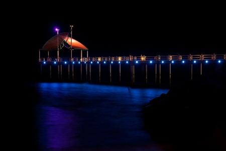 Pier of townsville Stock Photo