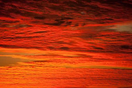 red sky in botswana