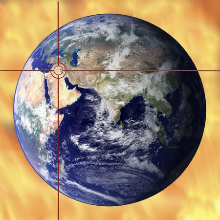 unease: With the middle east in flames, what will the future hold? Stock Photo
