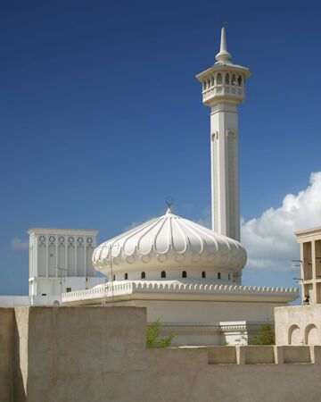 prayer tower: A White Mosque and miniret