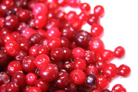 Bright red cranberry
