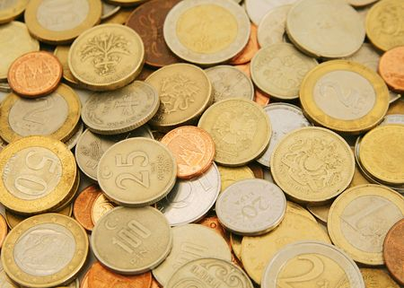 numismatics: Collection of coins Stock Photo