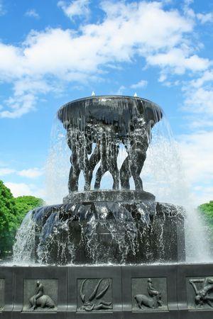 Bronze fountain. Sculpture park in Oslo, Norway Stock Photo - 7127264