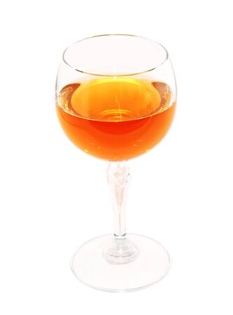 Glass of muscat wine Stock Photo