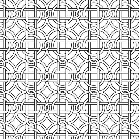 keltic:  seamless black and white pattern Illustration