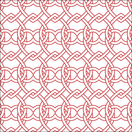 Vector seamless red and white pattern