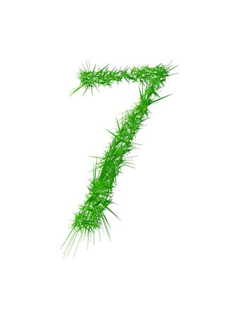Number 7, grass texture   Illustration