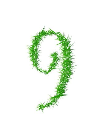 spines: Number 9, grass texture