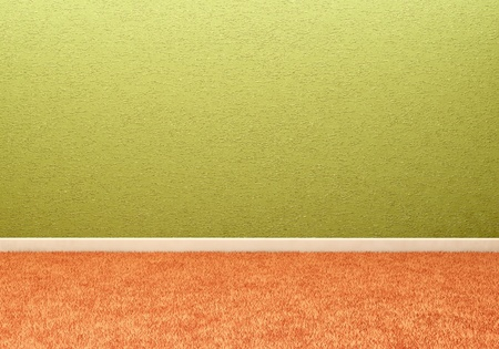 carpeting: Empty room with wall and carpeting floor