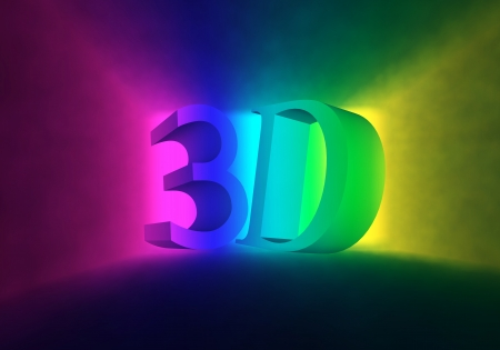 Colored cinema screen for the 3d films