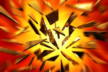 impact: The shards of glass scattered in the blast