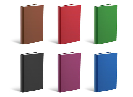 Set of book covers over white background Stock Photo