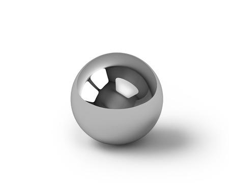 metales: Esfera de metal render, aislado en blanco con trazado de recorte