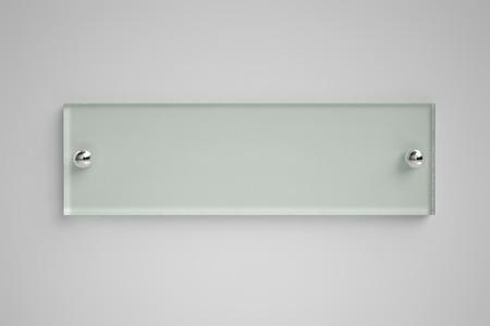 plexiglas: Transparent glass board on the wall