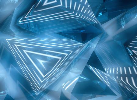 geometrical: Blue abstract geometrical background