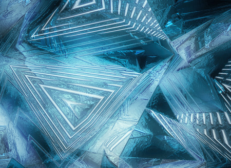 Blue abstract ice background