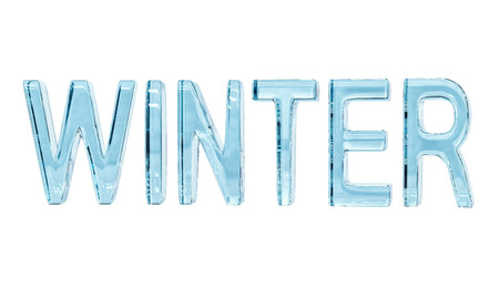 Word Winter isolated on white, with clipping path