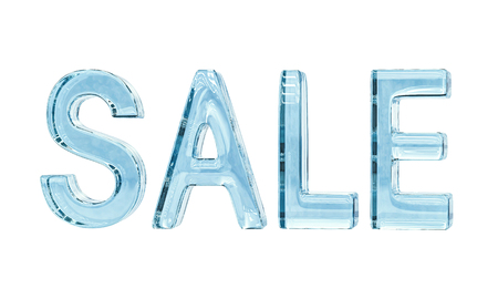 Word Sale isolated on white, with clipping path Stock Photo