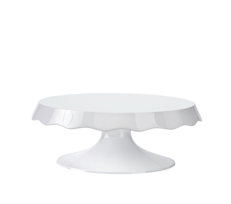 Porcelain cake stand isolated on white. 3D rendering with clipping path