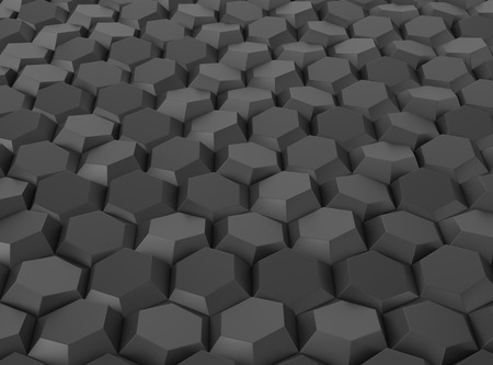 Black abstract geometric background. 3D rendering Imagens