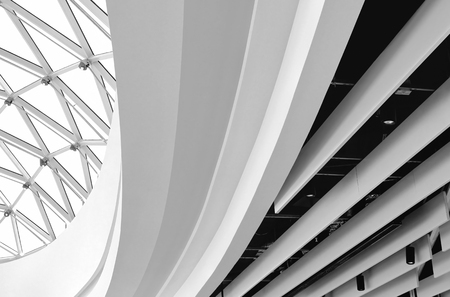 Modern architecture detail.Abstract fragment of contemporary architecture