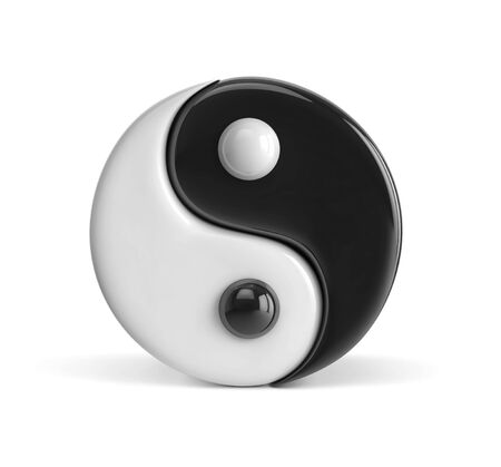 Yin and Yang symbol isolated on white.