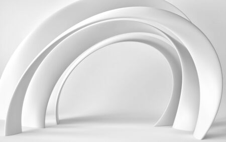 Abstract architecture background, futuristic interior. 3D rendering