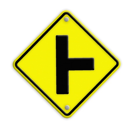 three intersection sign , Part of a series. Stock Photo - 21651669