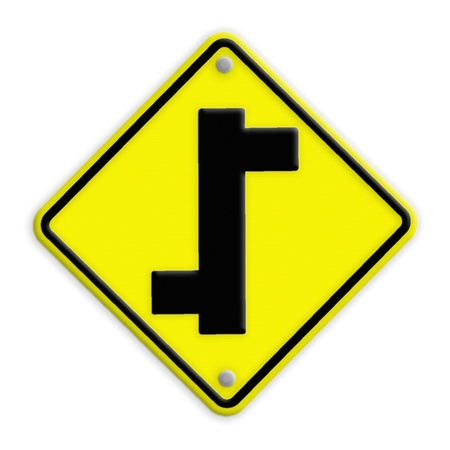 intersection sign photo