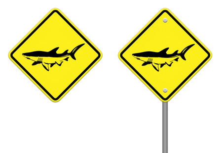 dolphin yellow and black sign - no fishing allowed  photo