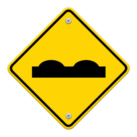 roughness: Road Sign beware surface roughness
