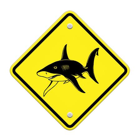beach closed: Shark sighting sign, Beach Closed Stock Photo