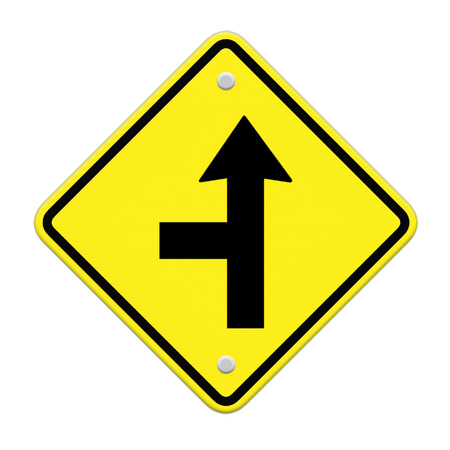 three intersection sign  photo