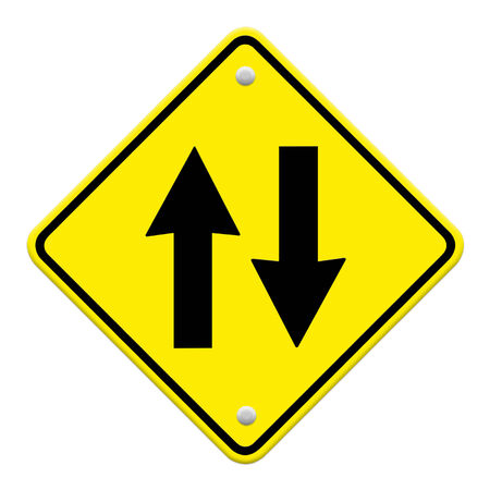 two way: Two way traffic sign