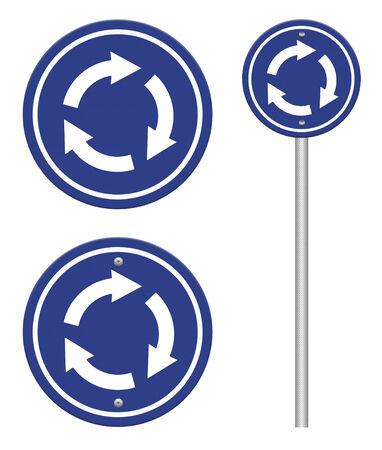 gyration: grunge traffic circle arrow sign