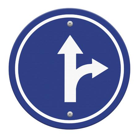 ring road: circle blue road sign Stock Photo