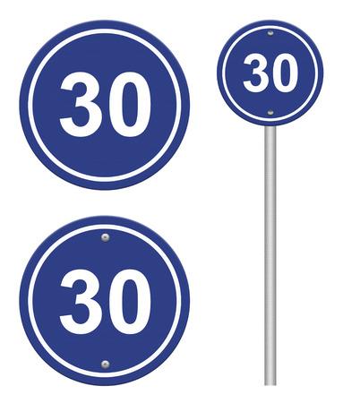 circle blue road signs photo