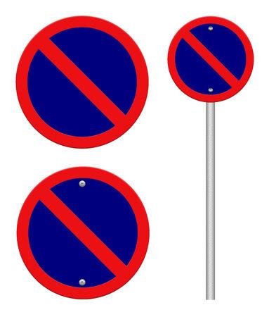 Parking ban traffic sign photo