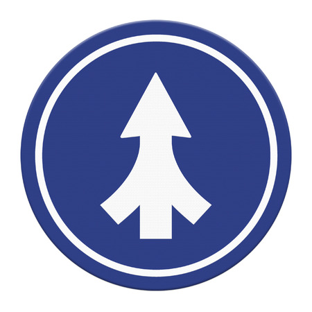 Traffic sign Lanes Merging isolated photo