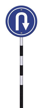 grunge traffic circle arrow sign photo