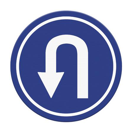 uturn: U-Turn Roadsign Stock Photo