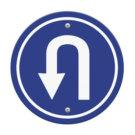 uturn: U-Turn Roadsign Stock Photo
