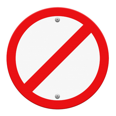 Not Allowed Sign photo