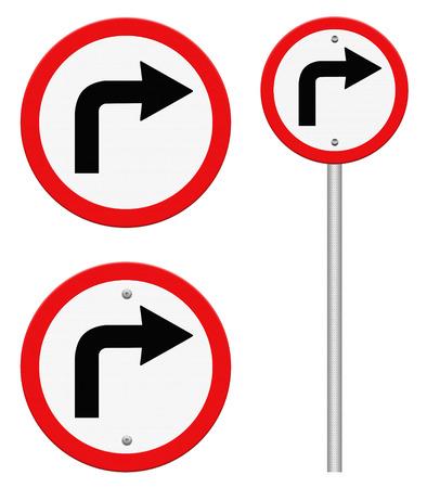 turn left: Segnale stradale girare a sinistra isolare su sfondo bianco