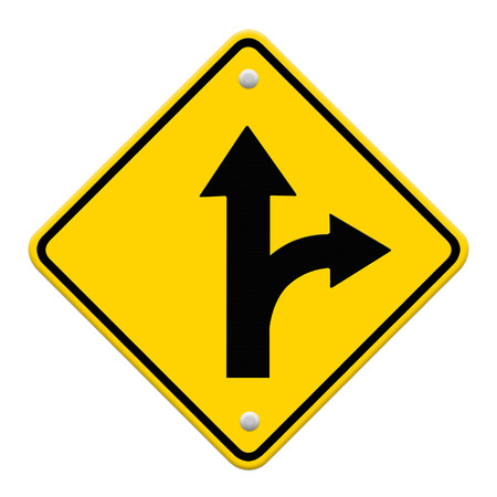 trip hazard sign: two intersection sign