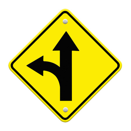two intersection sign  photo