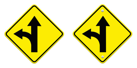 straightforward: two intersection sign