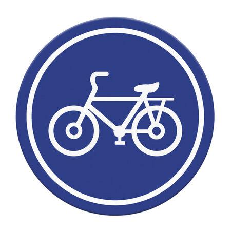 bicycle lane: Bicycle lane sign on white background